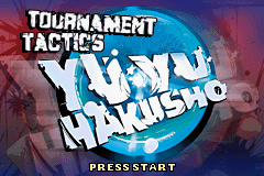 Yu Yu Hakusho: Ghost Files - Tournament Tactics Game Boy Advance Title screen.