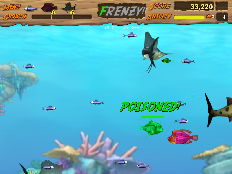 Feeding frenzy 2 shipwreck showdown screenshots for for Fish frenzy game
