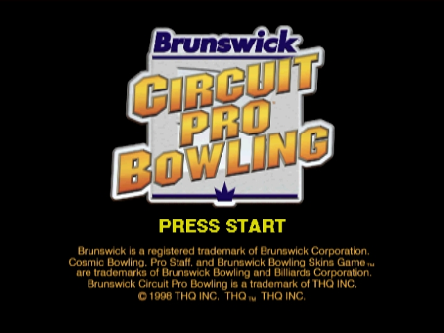 Brunswick Circuit Pro Bowling Nintendo 64 Title screen.