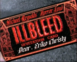 Illbleed Dreamcast Close-up of a mysterious Illbleed ticket
