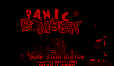 Panic Bomber Virtual Boy Title screen.