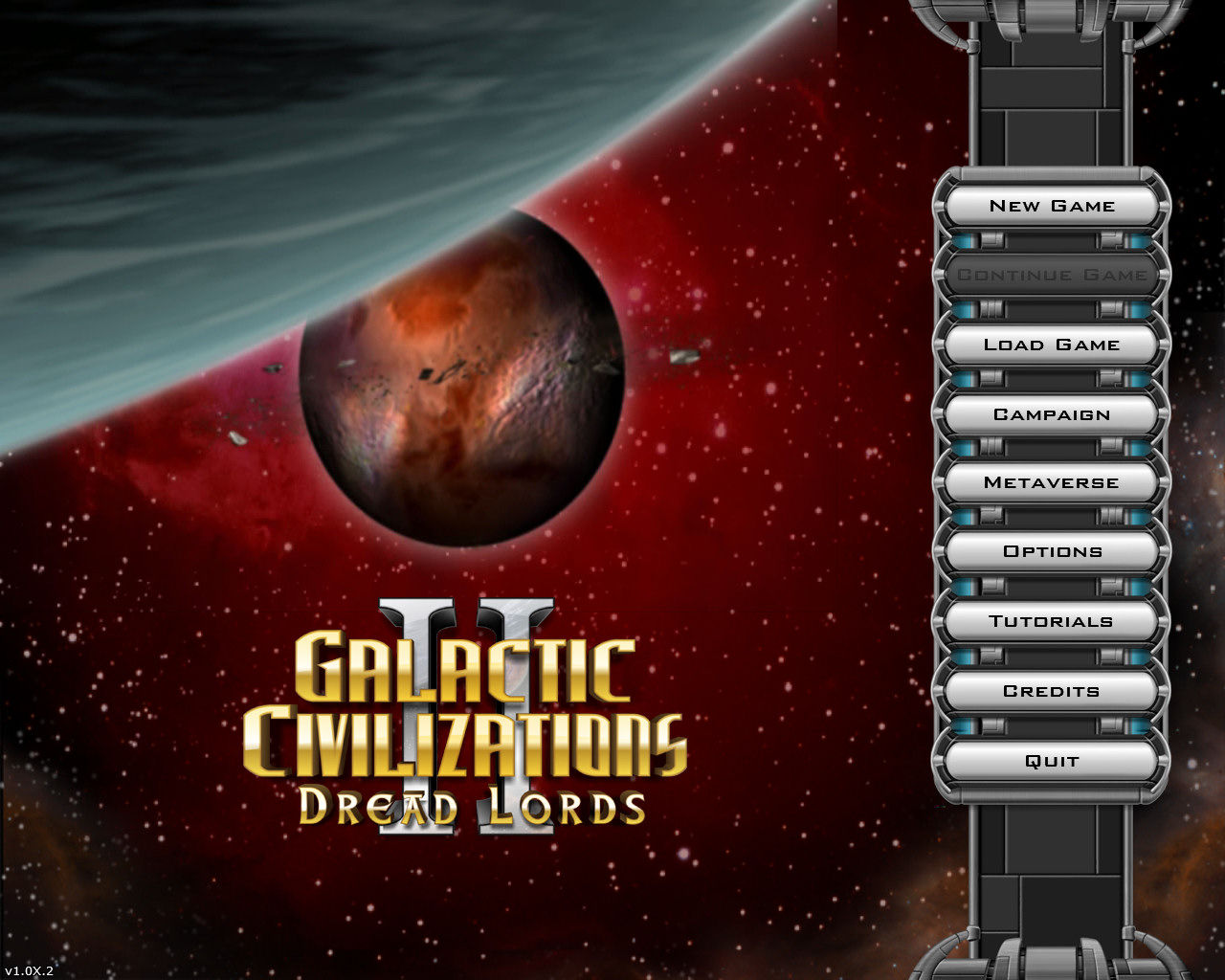 Galactic Civilizations II: Dread Lords Windows Title menu