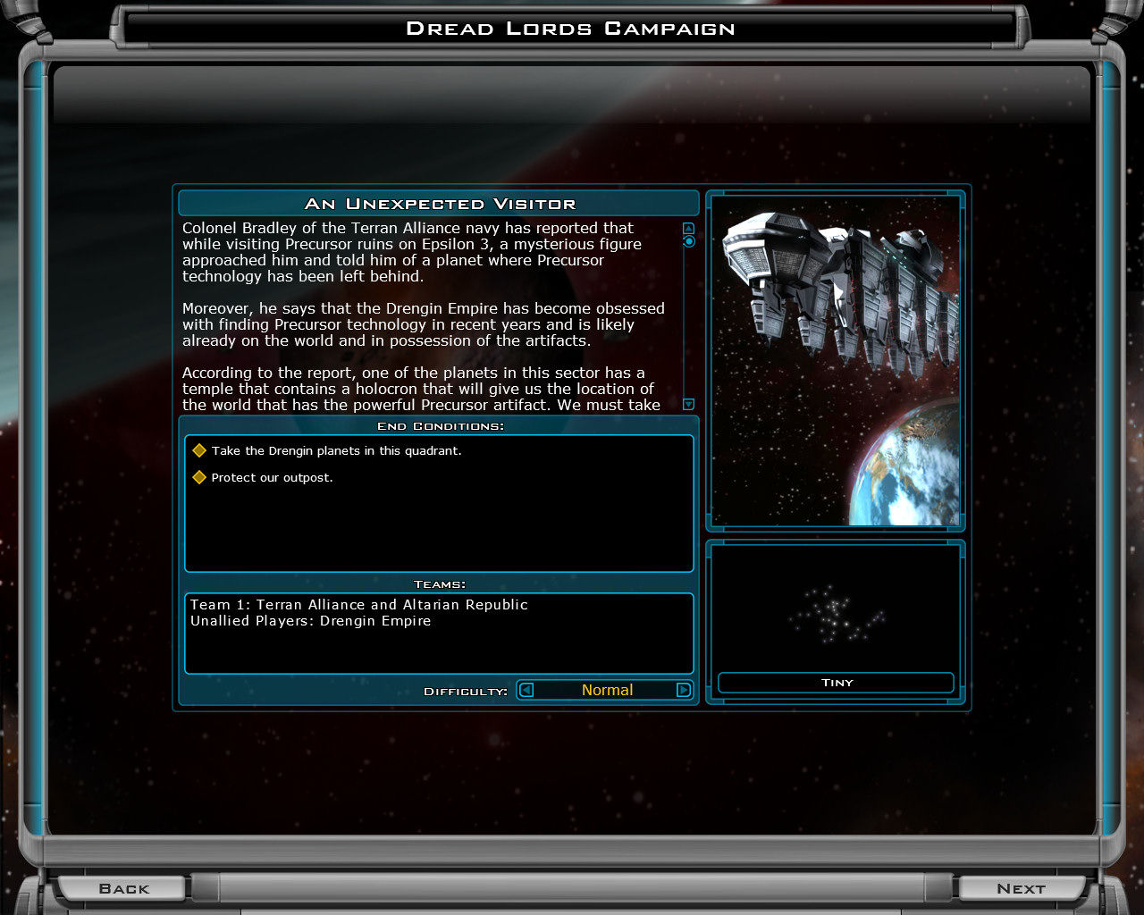 Galactic Civilizations II: Dread Lords Windows First chapter