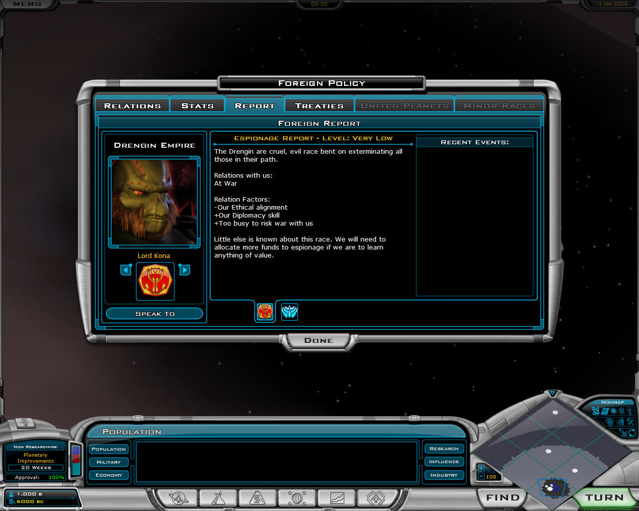 Galactic Civilizations II: Dread Lords Windows Information about your foe (and other players in the universe)