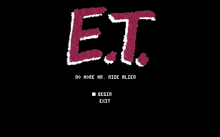 E.T.: No More Mr. Nice Alien DOS Main menu