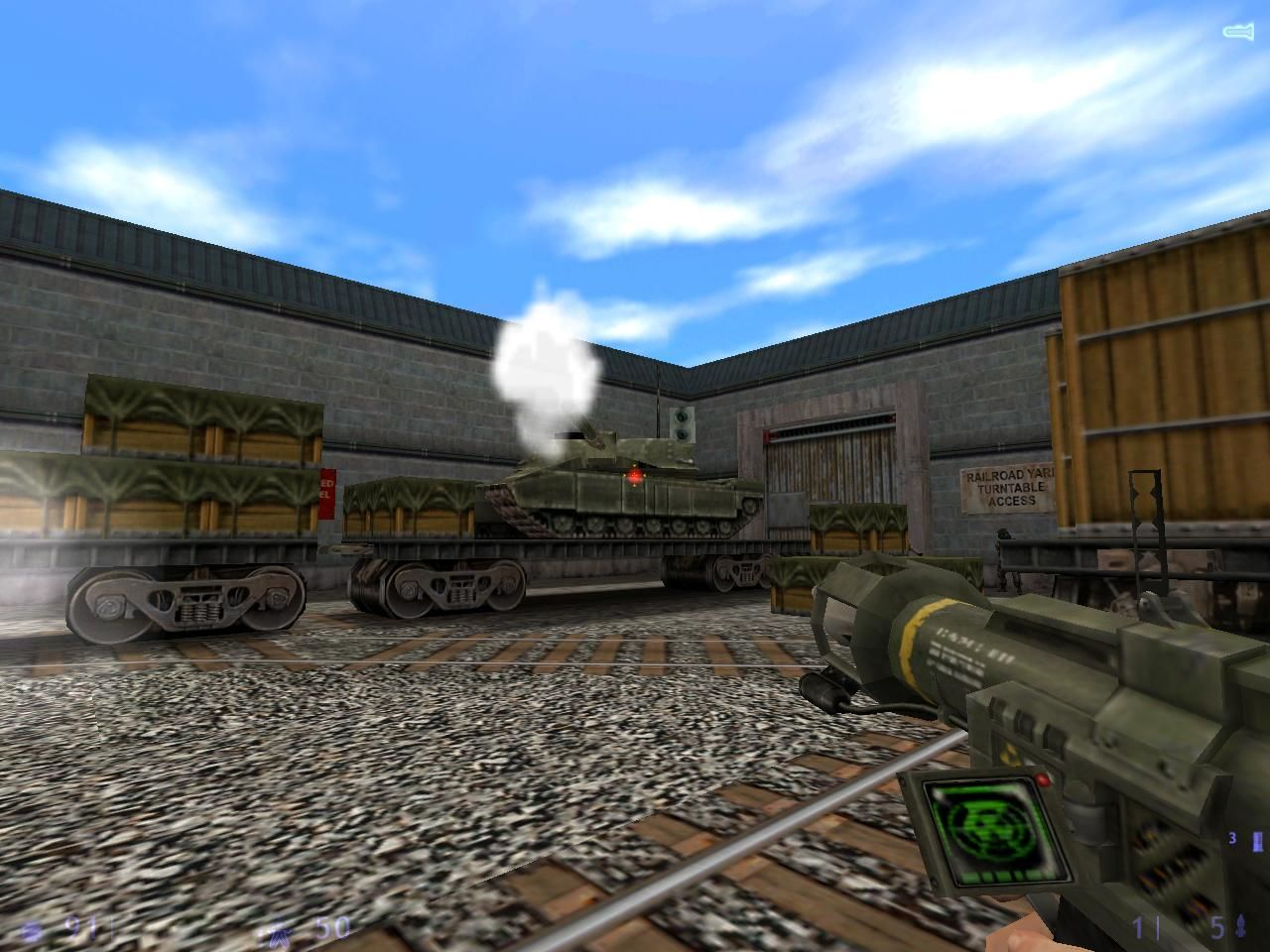 Half-Life: Blue Shift Windows A tank?!  I'd better get overtime pay for this.
