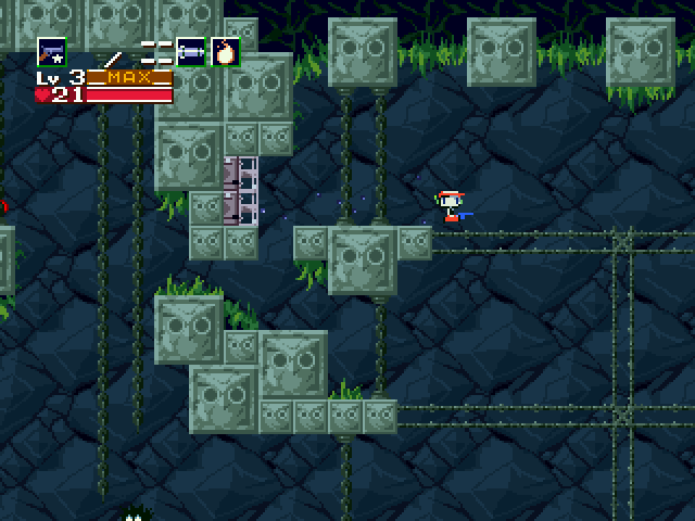 Cave Story Windows Using the vents to get over a large chasm.