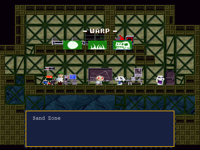 Cave Story Windows Using a teleport.