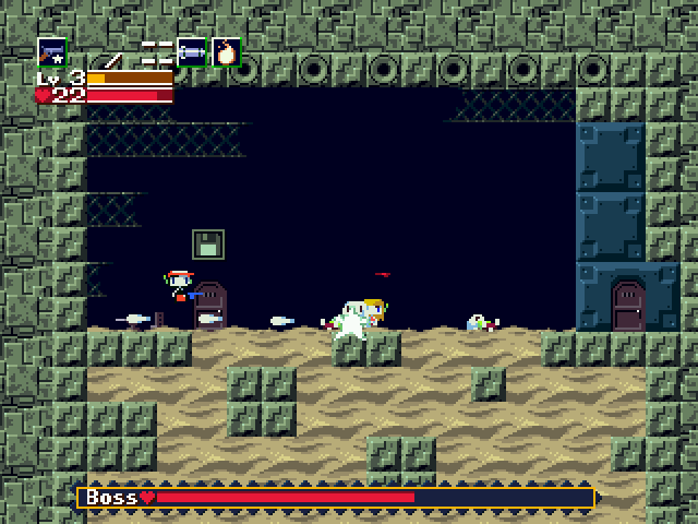 Cave Story Windows One of many boss-battles