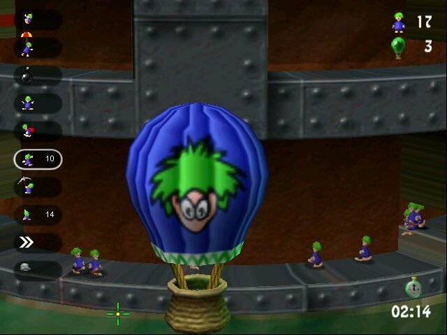 Lemmings Revolution Windows Balloon - this is final destination