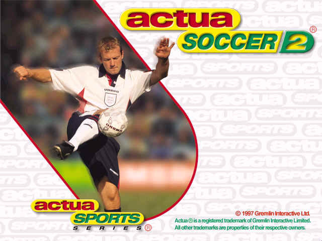 Actua Soccer 2 Windows Title Screen