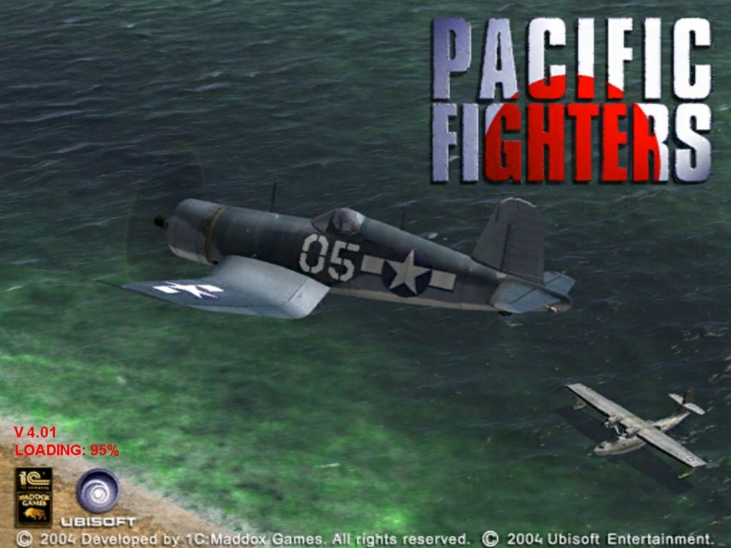 Pacific Fighters Windows Title screen