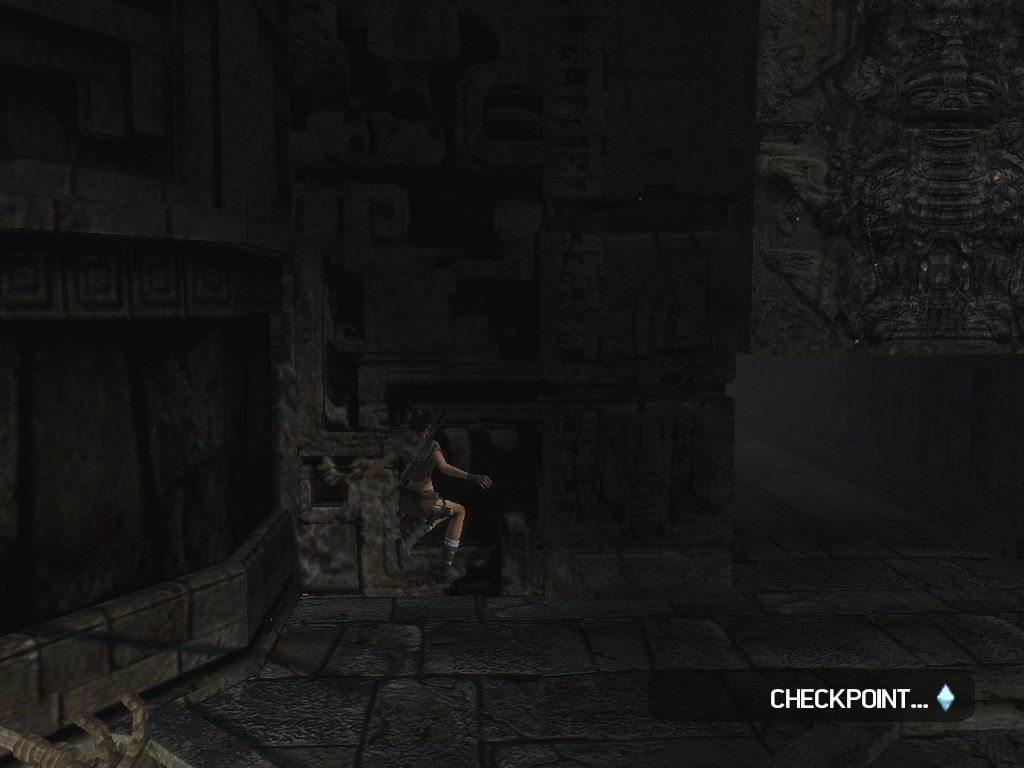 Lara Croft: Tomb Raider - Legend Windows This time, you save using checkpoints.
