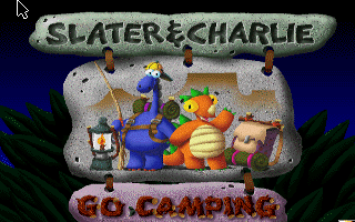 Slater & Charlie Go Camping DOS Title screen