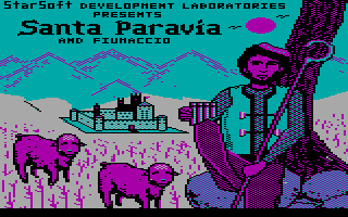 Santa Paravia and Fiumaccio DOS Title screen
