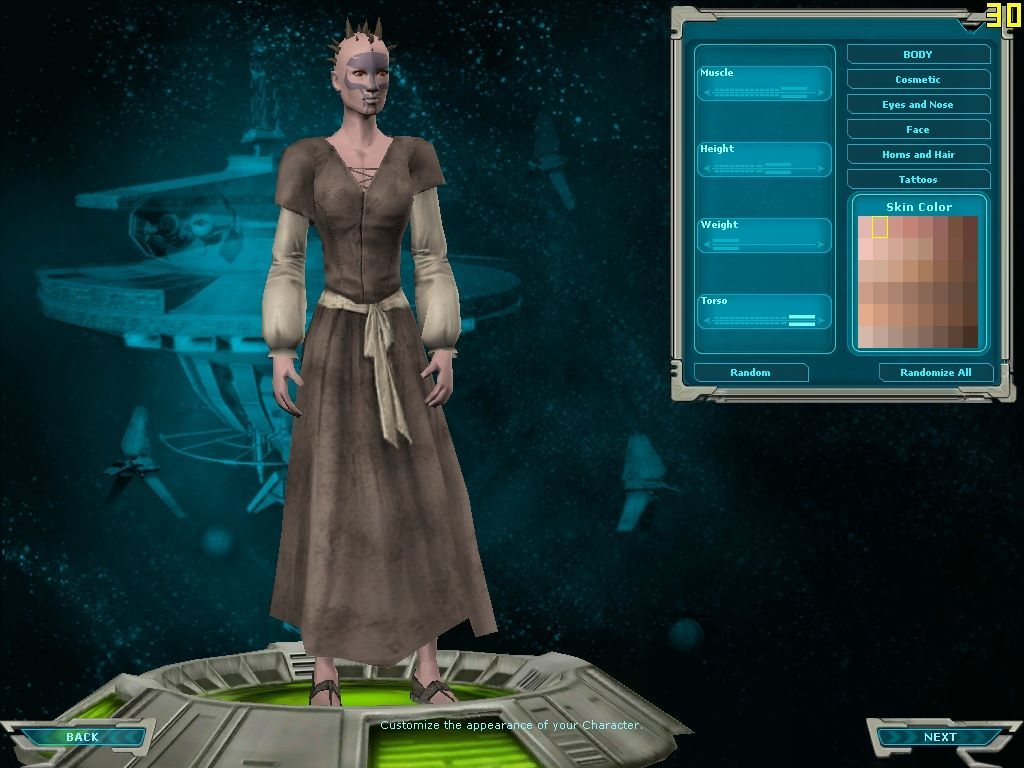 Star Wars: Galaxies - An Empire Divided Windows The character creation facilities are unusually powerful.