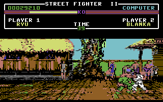 Street Fighter II Commodore 64 Ryu vs. Blanka