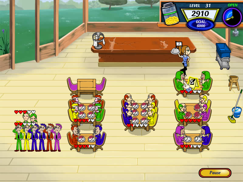 Diner Dash 2: Restaurant Rescue Windows The Japanese grill is the fourth restaurant you will run in story mode.