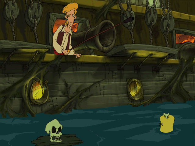 The Curse of Monkey Island Windows guybrush meets murray.. or whatever thats left of him
