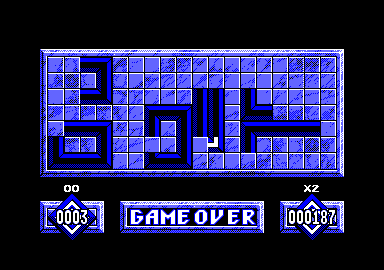 Loopz Amstrad CPC I used up all my tries, game over