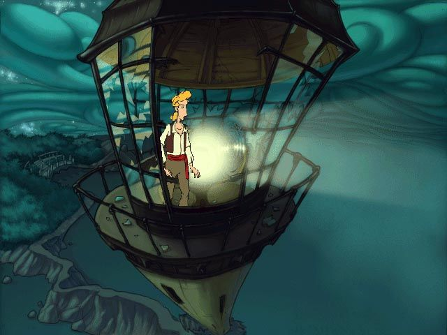 The Curse of Monkey Island Windows the lighthouse