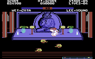 Yie Ar Kung-Fu 2: The Emperor Yie-Gah Commodore 64 Before every battle you have to dodge or defeat these little guys