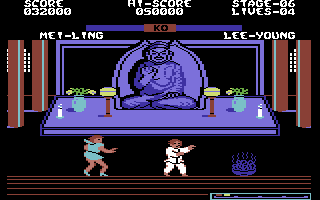 Yie Ar Kung-Fu 2: The Emperor Yie-Gah Commodore 64 The item on the right gives temporary invincibility