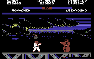 Yie Ar Kung-Fu 2: The Emperor Yie-Gah Commodore 64 Han-Chen is throwing bombs