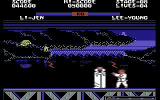 Yie Ar Kung-Fu 2: The Emperor Yie-Gah Commodore 64 Watch out for the lightnings!