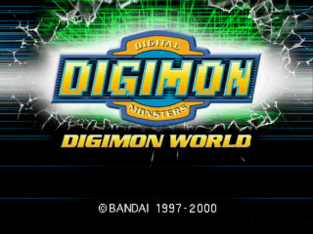 Digimon World PlayStation Title Screen