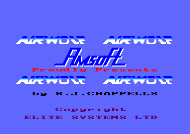 Airwolf Amstrad CPC Title Screen