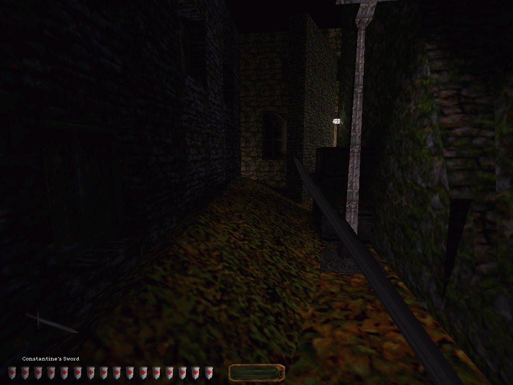 Thief: The Dark Project Windows Expect to venture down quite a few dark alleys, just like this one