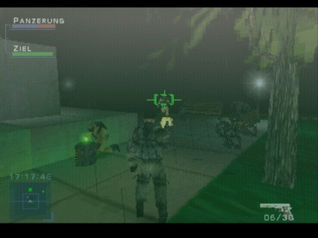 Syphon Filter PlayStation In the park, protecting a CBDC agent who's disarming one of four bombs you must find within the time limit
