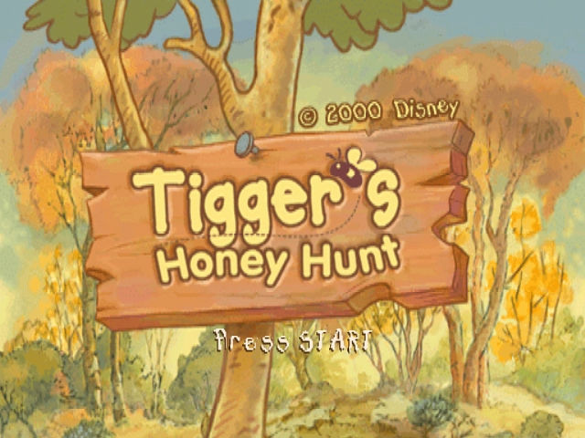 Tigger's Honey Hunt Nintendo 64 Title screen.