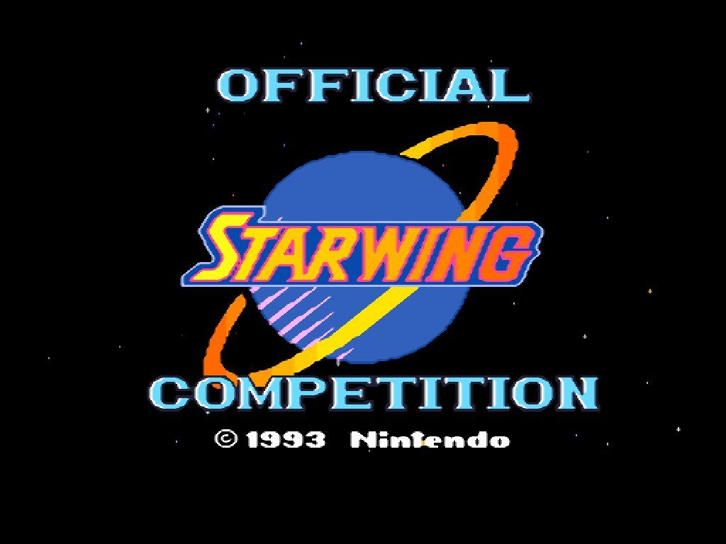 Star Fox: Super Weekend SNES Title Screen (UK version)