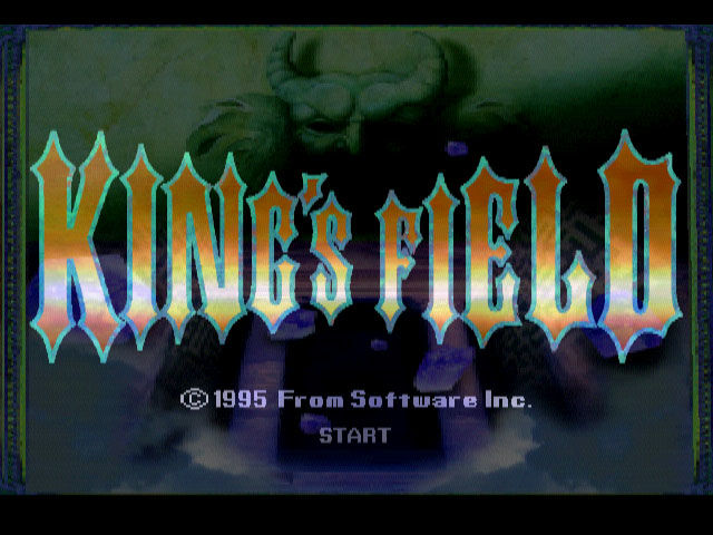 King's Field PlayStation Title screen (Japan)