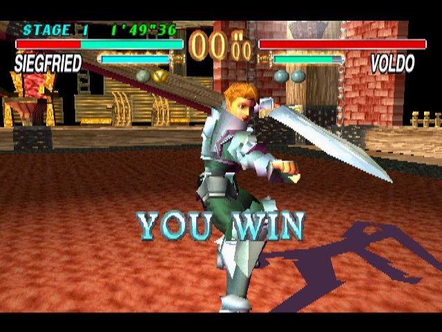 Soul Blade PlayStation Winning pose