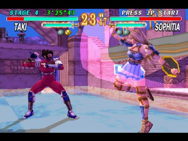 Soul Blade PlayStation Taki vs Sophitia