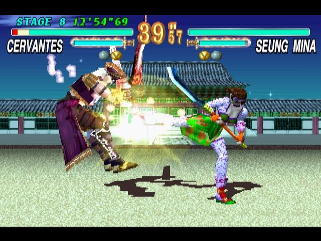 Soul Blade PlayStation Even though Cervantes is one of the bosses, he is available as a playable character from the beginning.