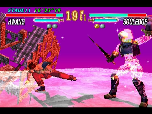 Soul Blade PlayStation This doesn't look good for Hwang.