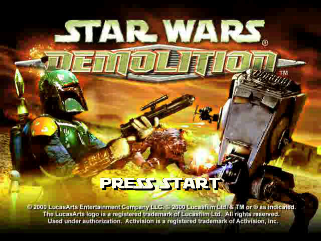 Star Wars: Demolition PlayStation Title screen.