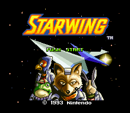 Star Fox SNES Title screen (PAL version)