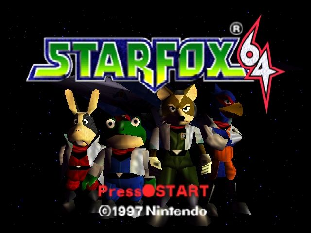 Star Fox 64 Nintendo 64 Title screen (US version)