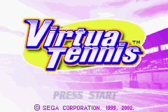 Virtua Tennis Game Boy Advance Title Screen