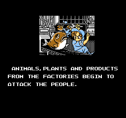 Gun-Nac NES Animals and plants attack people