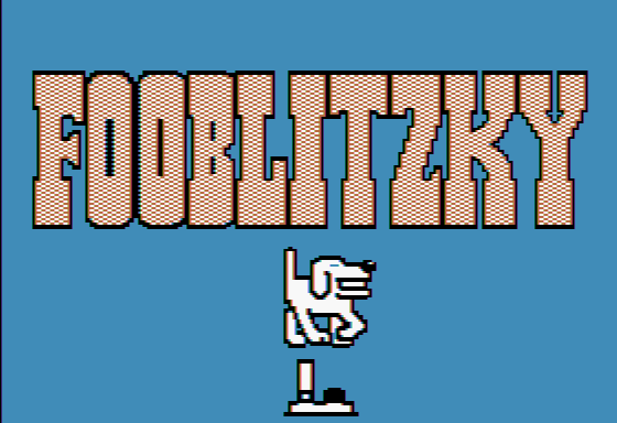 Fooblitzky Apple II Title screen 2