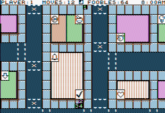 Fooblitzky Apple II Moving on the gameboard