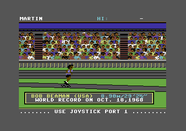 HesGames Commodore 64 A very famous world record in the long jump