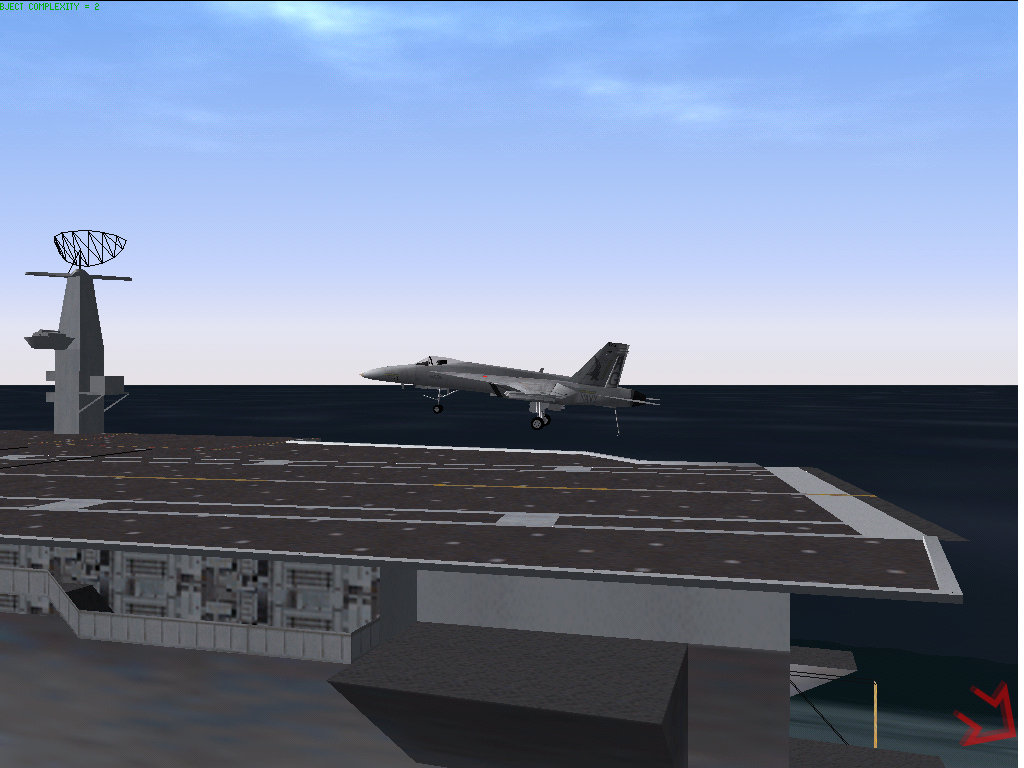 Jane's Combat Simulations: F/A-18 Simulator Windows Carrier landing