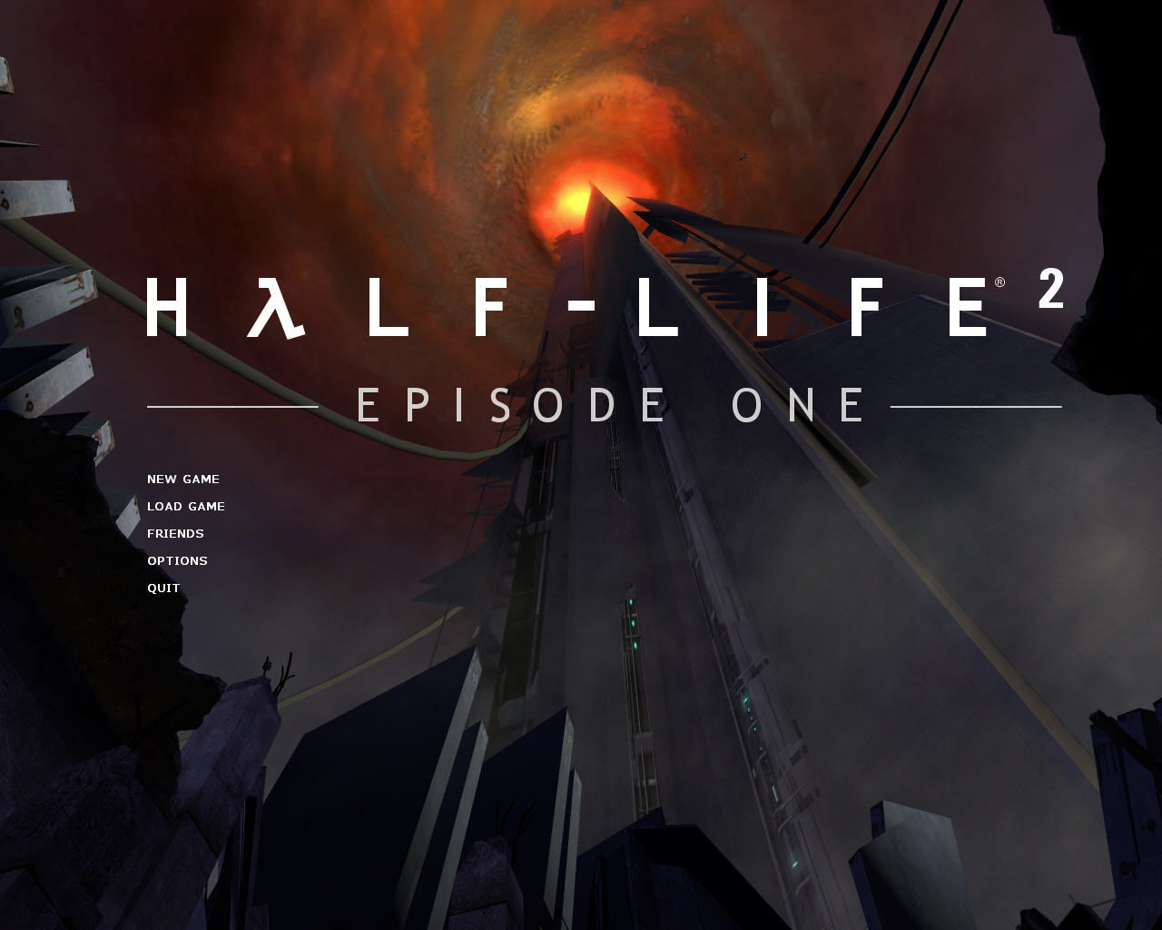 Half-Life 2: Episode One Windows Main menu